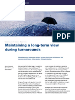 Maintaining a Long-term View During Turnarounds