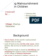 Analysing Malnourishment in Children (Khariya Patavatan)
