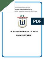 ASERTIVIDAD EN LA UNIVERSIDAD