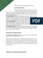 1.2 Características o Principios de Administración