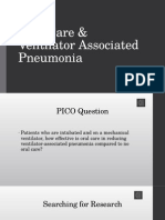 oral care & ventilator acquired pneumonia