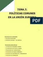 Politicas Comunes UE