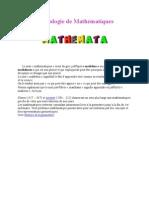 Etymologie de Mathématiques