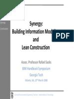 Synergy BIM and Lean Construction