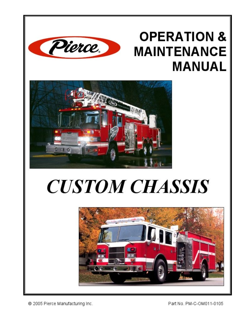 pierce custom chassis operation and maintenance manual - 2005 (2008 test) |  suspension (vehicle) | axle