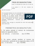 Parámetros de Manufactura