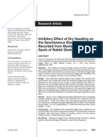 Inhibitory Effect of Dry Needling on the Spontaneous Electrical Activity Recorded From Myofascial Trigger Spots of Rabbit Skeletal Muscle