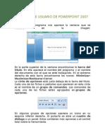 Interfaz de usuario de PowerPoint 2007