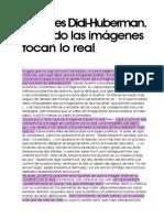 Georges Didi-Huberman, Cuando Las Imagenes Tocan Lo Real