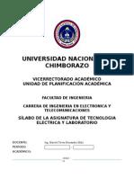 Silabo de Tecnologia Electrica 2014-2015