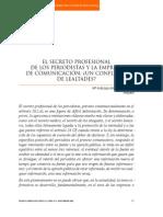 El Secreto Profesional de Los Periodistas y La Empresa...