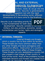 Internal and External Security Threats to Pakistan (1)