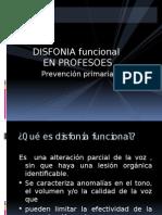 Disfonia Funcional en Profesores