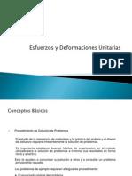 Esfuerzo y deformaciones unitarias