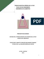 Estudio de la producción de Aflatoxinas en la post cosecha de Amaranto