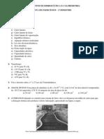 Calorimetria - Lista de Exercícios - Aulas 1, 2 e 3