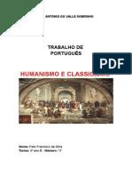 Trabalho de Portugues - Humanismo e Classicismo - Felix Silva