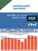 Ventas Inmobiliarias Enero Agosto 2014