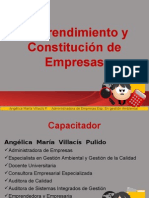 Emprendimiento y Constitucion de Empresa