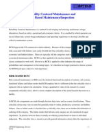 Reliability Centered Maintenance and Rbi