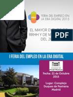 Dossier de Prensa - Feria del Empleo en la Era Digital - F.E.E.D.