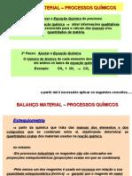 Balanço Material - Processos QUIMICOS INTRODUÇÃO