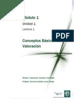 Tasaciones-Lectura 1 - Conceptos Básicos de Valoración