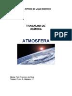Trabalho de Quimica - Atmosfera - Felix Silva