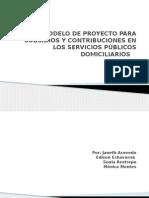 Modelo de Proyecto Para Subsidios y Contribuciones En