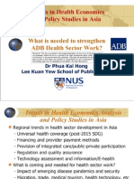 What is needed to strengthen ADB Health Sector Work?