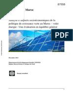 L'énergie au Maroc Les objectifs et les orientations
