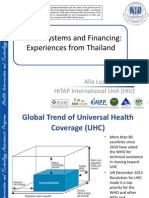 Health Systems and Financing