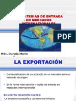 Tema 8 Estrategias de Entrada en Mercados Internacionales