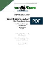 Heidegger Martin - Contribuciones a La Filosofia