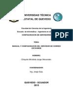 Manual y Configuracion Del Servidor de Correo Exchange