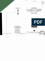 Villey Estudios en Torno a La Noci n de Derecho Subjetivo