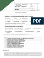 2015 Prueba de Historia 1,2,3.Claretiano. I-bimestre