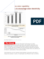 Time to Reassess Solar Capability Business Plans to Encourage Solar Electricity