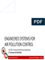 Lecture 19 Engineered Systems for Air Pollution Control
