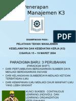 Promosi Informasi Dan Sistem Pelatihan K3 Peretemuan 3