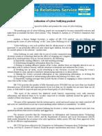 may25.2015 bCriminalization of cyber-bullying pushed