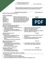 Sample Nursing Student Resume