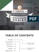 50 Examples of Brilliant Homepage Design