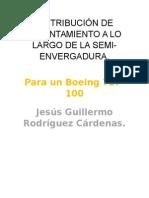 Distribución de Levantamiento a Lo Largo de La Semiala