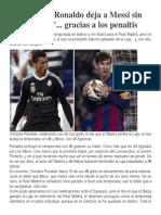 CR7 deja sin Pichichi a Messi
