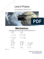 Level 2 Physics Mechanics Revision Booklet 2012