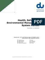 Du HSE Manual Approved Rev 7.0