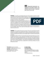 Desarrollo Territorial y Escuelas Rurales Riella y Vitelli