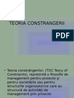 TEORIA CONSTRANGERII..