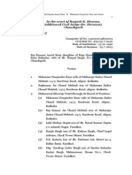 Raj Kumari Amrit Kaur Latest Jugment 2013